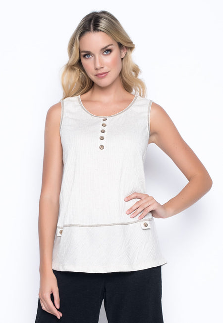 V-Neck Handkerchief Hem Top