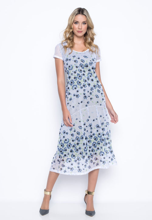Short Sleeve Flared Dress by Picadilly Canada