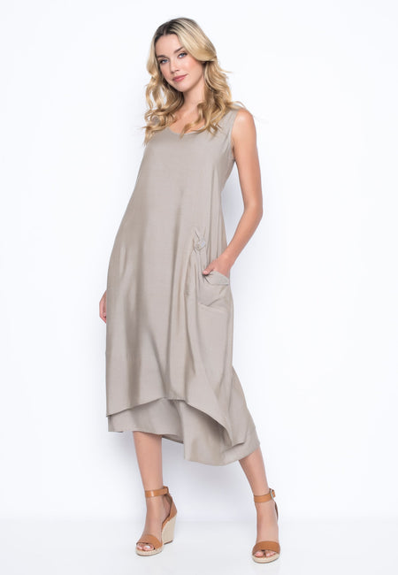 Tank Dress With 1 Pocket