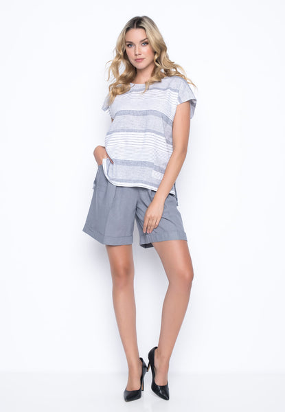 outfit featuring the Shorts With Pleated Detail by Picadilly Canada