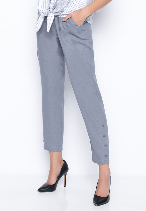 Pull-On Slim Pants With Buttons by Picadilly Canada