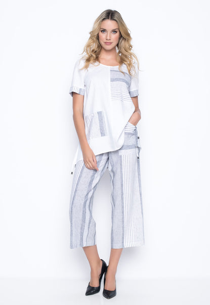 outfit featuring the Wide Leg Pants With Pockets by Picadilly Canada