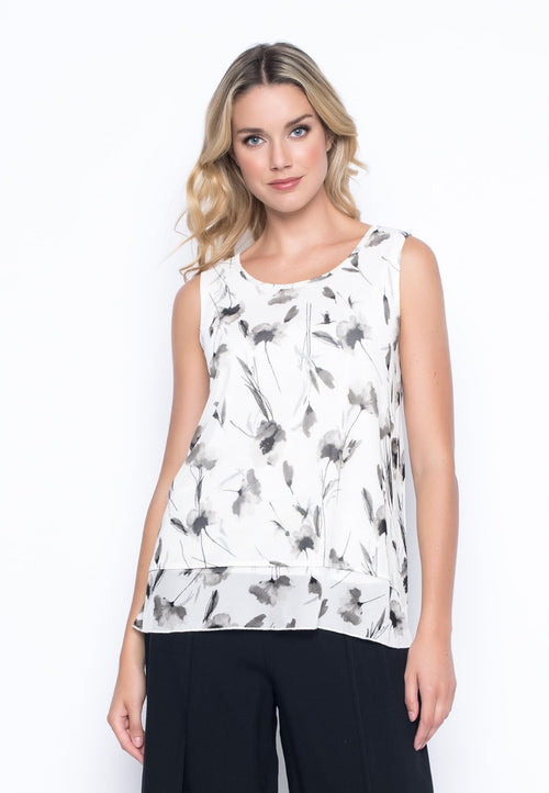 Wildflower Flared Tank by picadilly canada