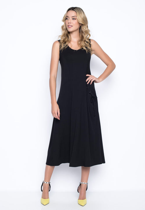 1-Pocket Tank Dress in black by picadilly canada