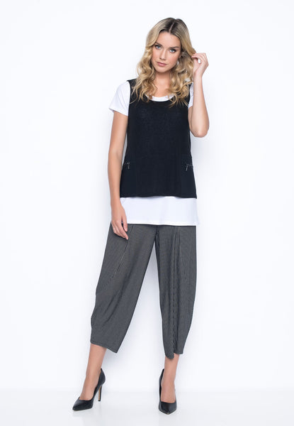 outfit featuring the Draped Pants With Pockets by Picadilly Canada