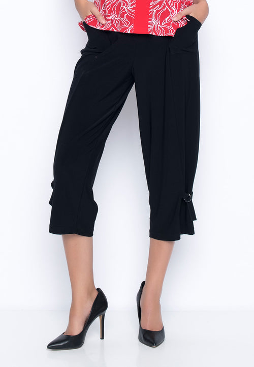 Tie-Hem Tapered Cropped Pants by Picadilly Canada