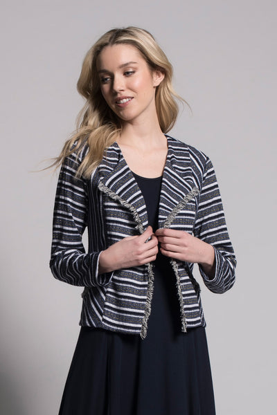 Fringe Trim Jacket by Picadilly Canada