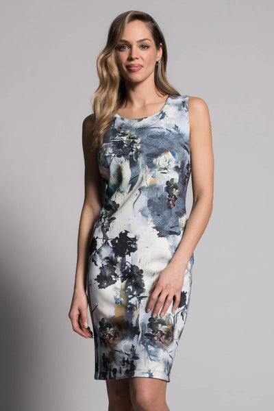 Abstract Floral Sleeveless Dress by picadilly canada