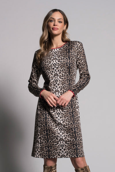 Long Sleeve A-Line Dress With Piping by picadilly canada