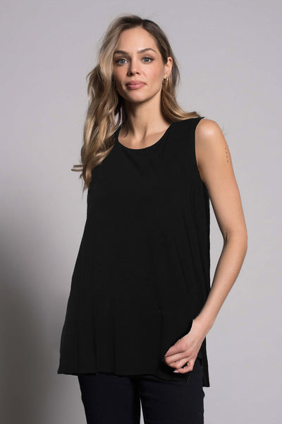 Curved Hi-Low Hem Tank by picadilly canada