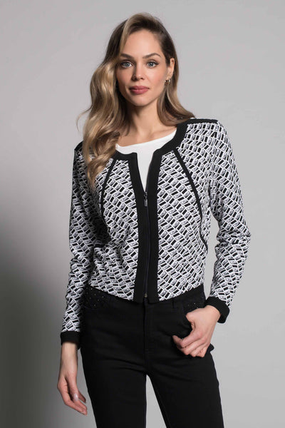 Zip-Front Jacket With Black Trim by picadilly canada