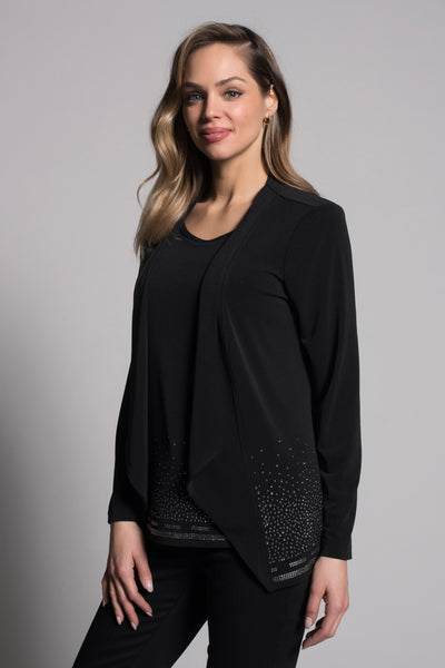 Embellished Open-Front Jacket by picadilly canada