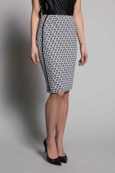 Piping Trim Pencil Skirt By Picadilly canada