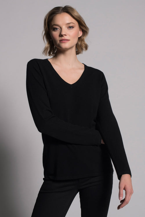 Long Sleeve V-Neck Top by Picadilly canada