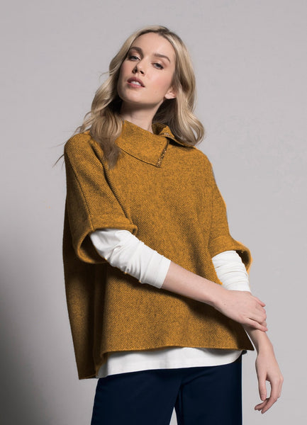 deep yellow, amber embellished collar top by picadilly
