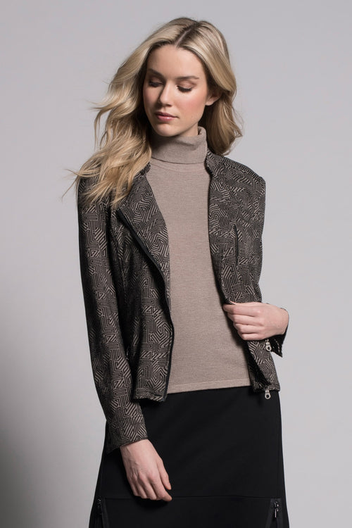 Asymmetric Zip-Front Jacket by Picadilly Canada