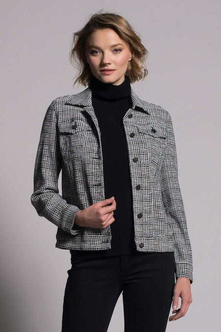 Drawstring Collar Zip-Front Jacket