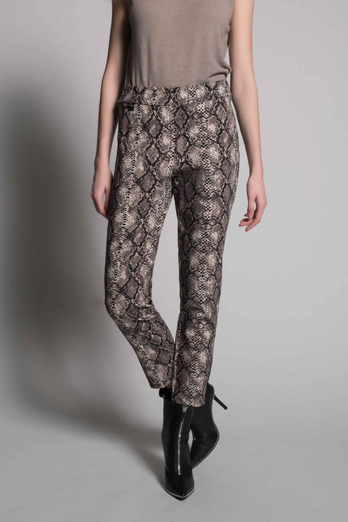 Animal Print Pull-on Straight leg Pants by picadilly canada