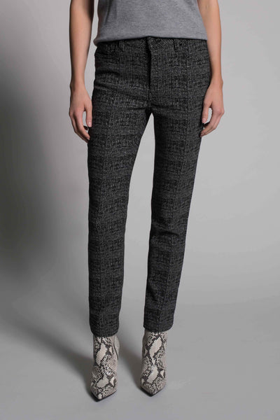 Plaid Print Straight Leg Pants by picadilly canada