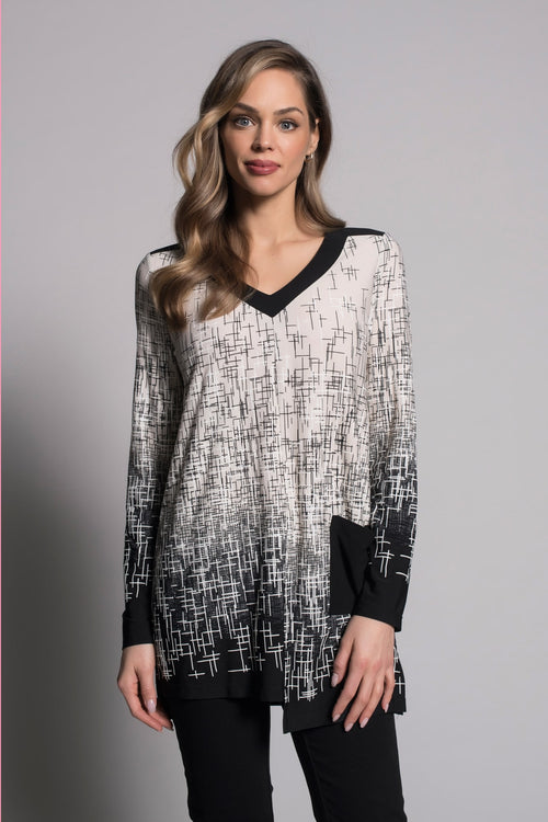V-Neck Long Sleeve Top by picadilly canada