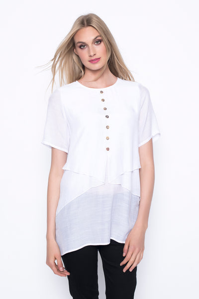 Short Sleeve Draped Top