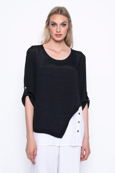¾ Sleeve Asymmetrical Top