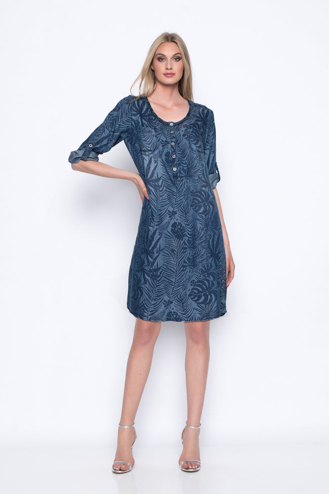 Half-Button Dress With Pockets