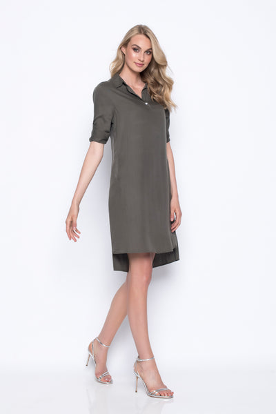 Half-Button Shirt Dress