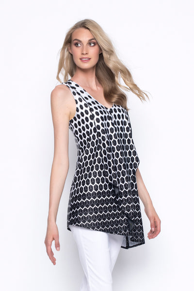 Front-Draped Tank With Asymmetric Hem