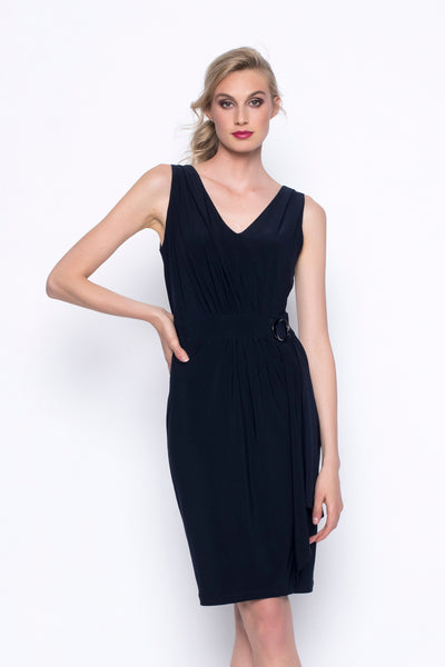 Sleeveless Wrap Dress With Gathers