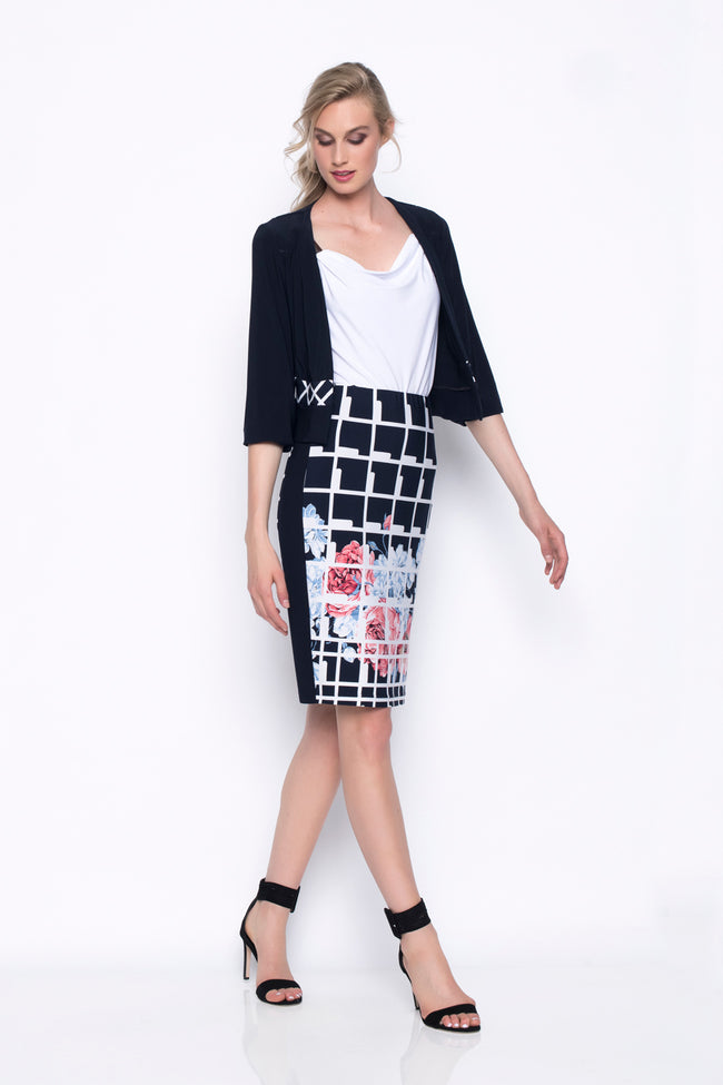 Pull-On Pencil Skirt With Side Panels