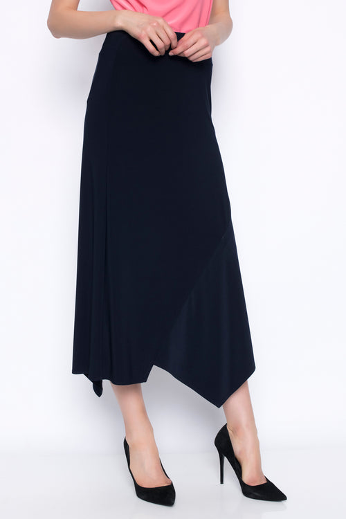 Pull-On Long Skirt With Drape