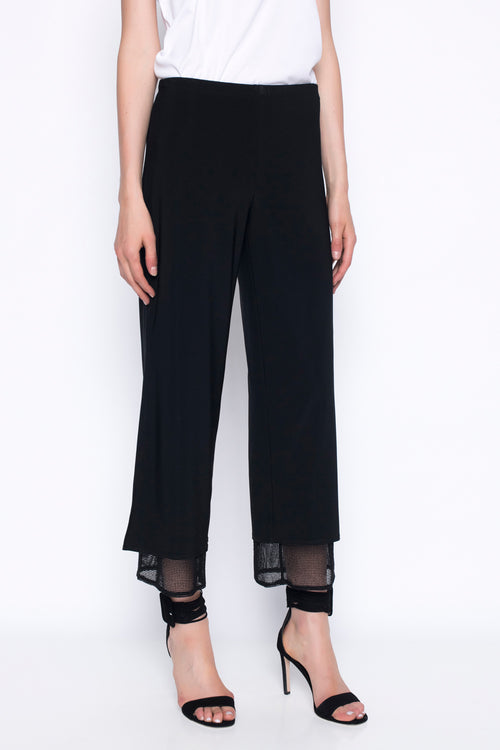 Layered Wide-Leg Flowy Pants