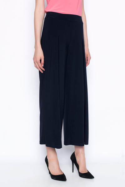 Pleated Wide-Leg Pant