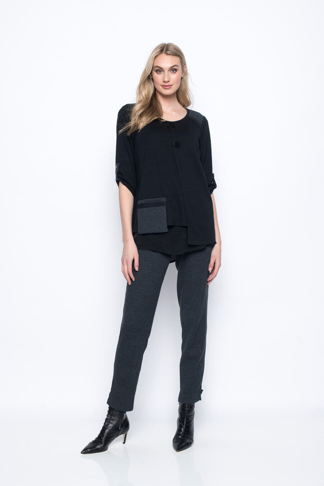 Asymmetrical Top With Pockets