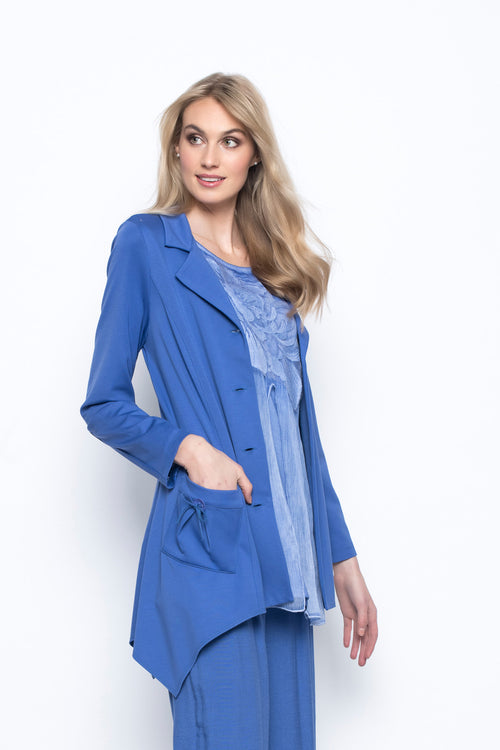 Button-Front Jacket With Pockets