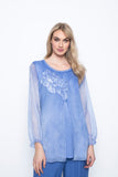 Chiffon Trimmed Top With Sequin Embellishment