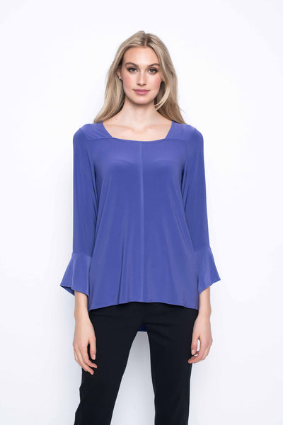 Ring Embellished Ruffle Sleeve Top
