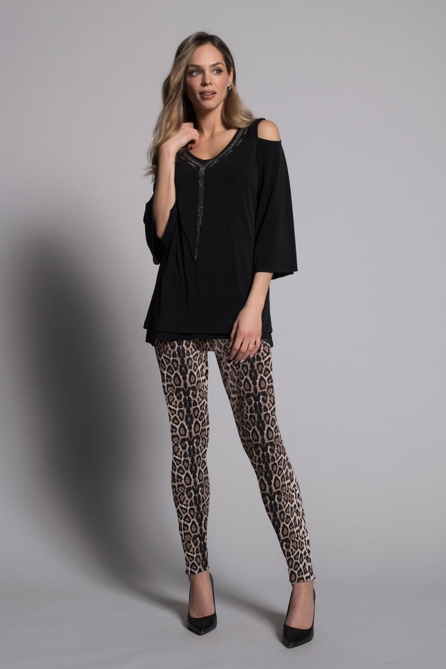 outfit featuring Animal Print Leggings By picadilly canada