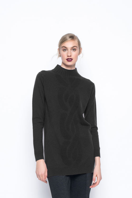 Cable Pattern Sweater Tunic