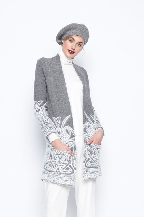 Long Sleeve Custom Jacquard Sweater Jacket