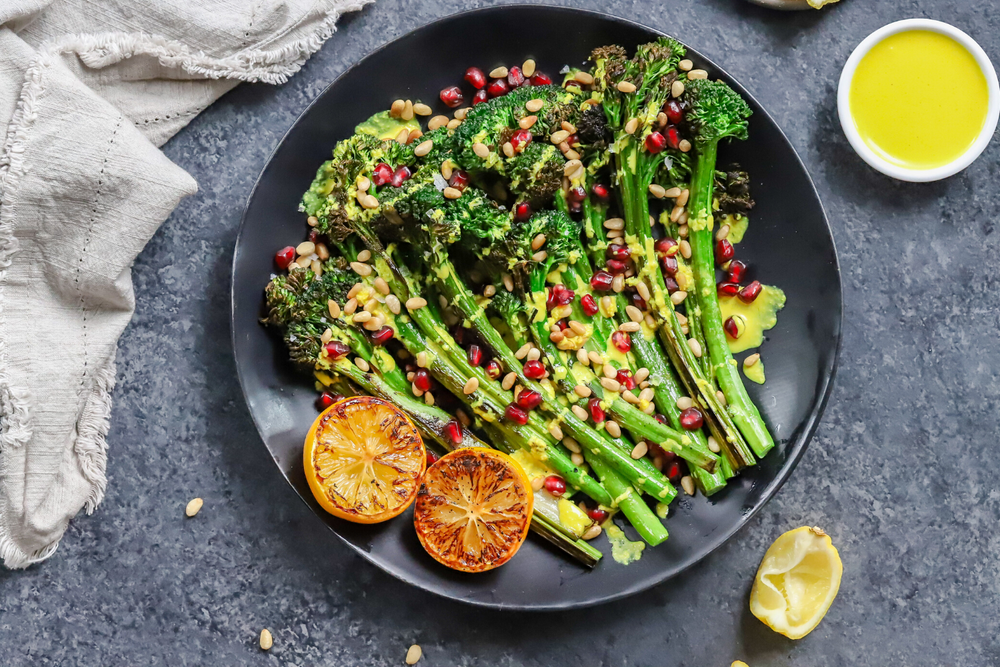 Charred Broccolini with Lemon Tahini