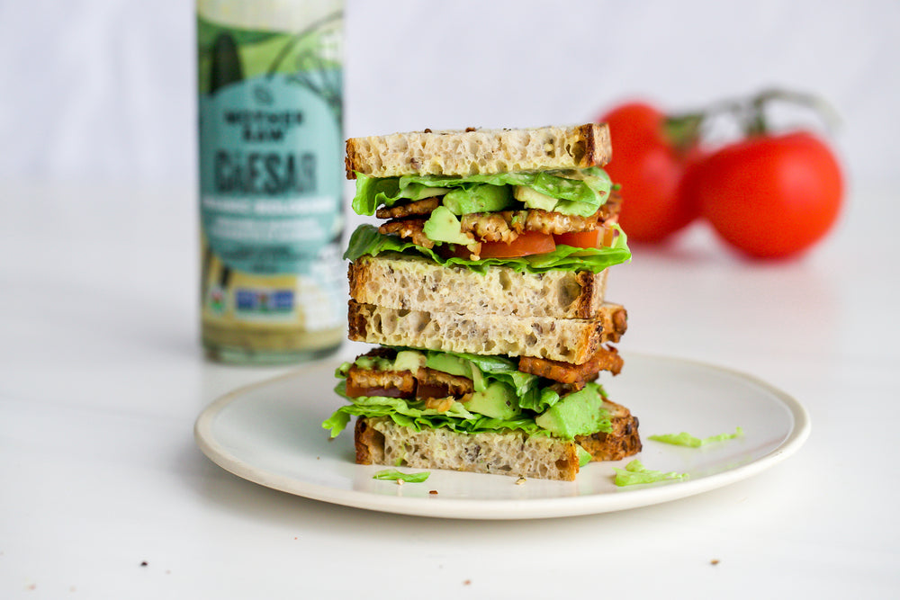 Caesar BLT with Tempeh Bacon
