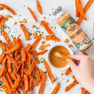 Smoky Chipotle Ranch Bottle with Sweet Potator Fries