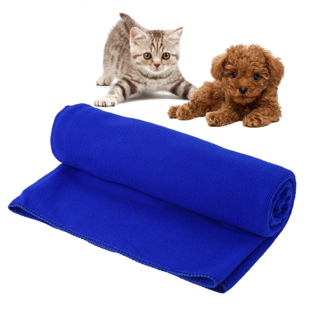 Water Absorption Blue Towel for Pets