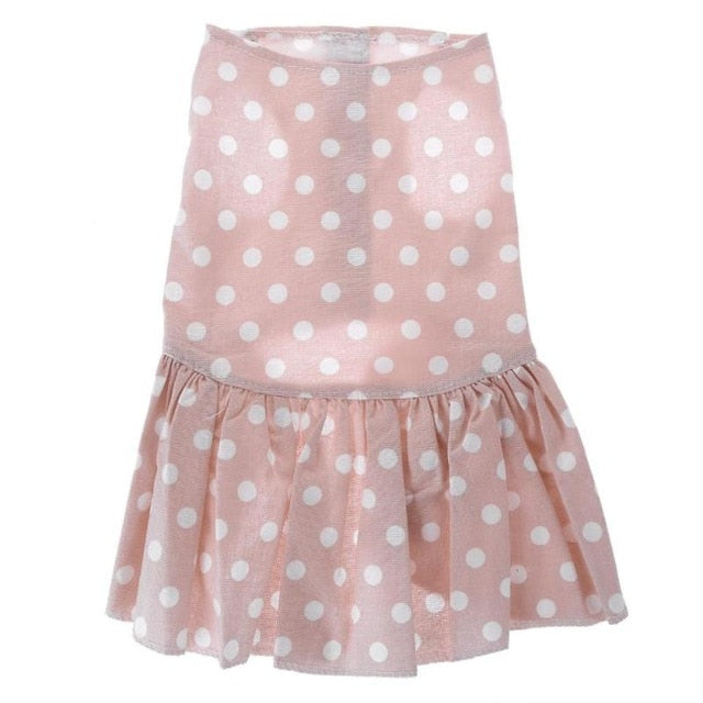 Summer Puppy Cotton SKirt