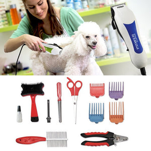 12Pcs Pets Electric Clipper Tool Kit