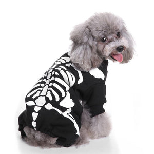 Skeleton Party Hoodie for Dogs