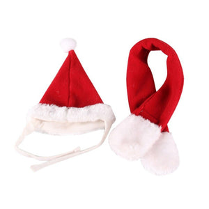 Pet Christmas Hat and Scarf Set