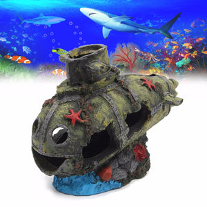 Resin Submarine Tank Ornament